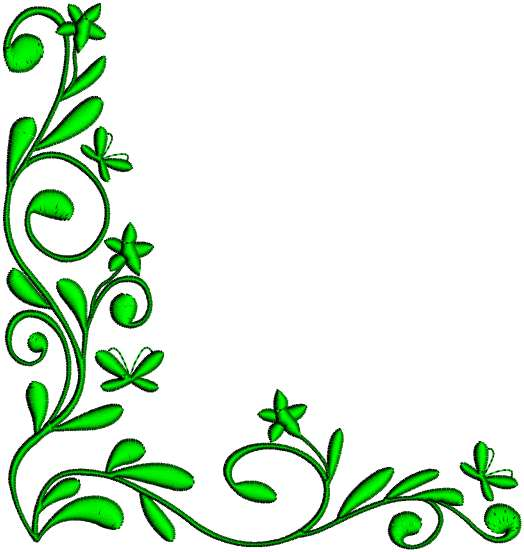 6 Border Corner Embroidery Designs Images - Machine ...