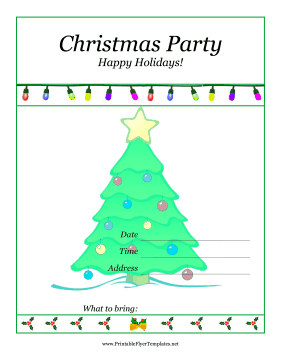 16 Printable Christmas Party Flyer Templates Images