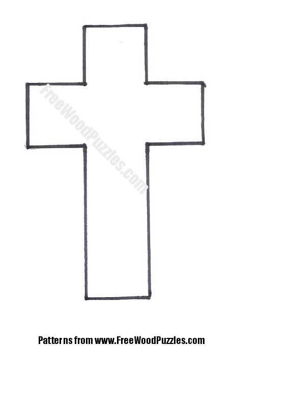 picture about Printable Cross Pattern called 10 Printable Cross Plans Pictures - Totally free Cross Tattoo
