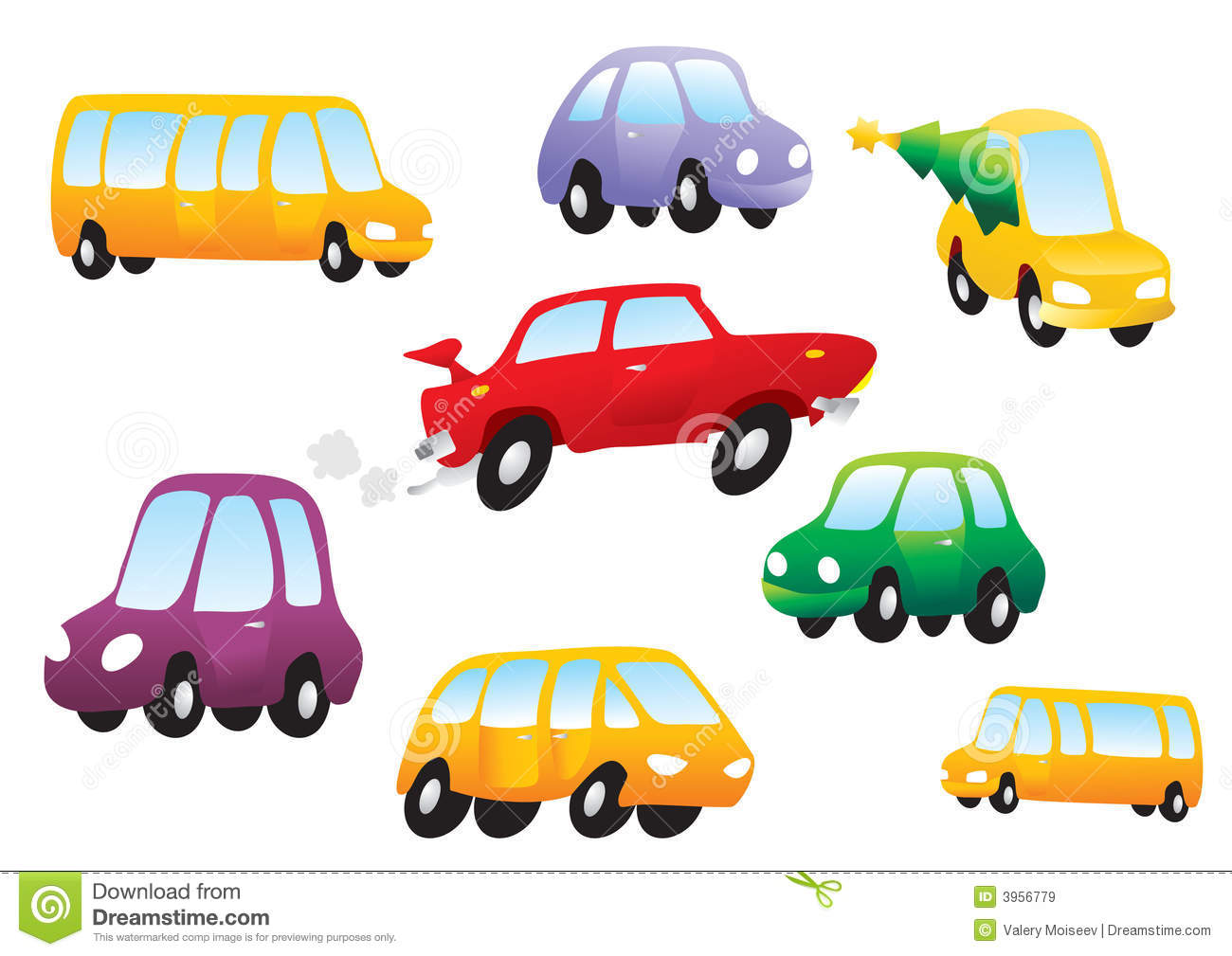 Free Vector Cartoon Cars