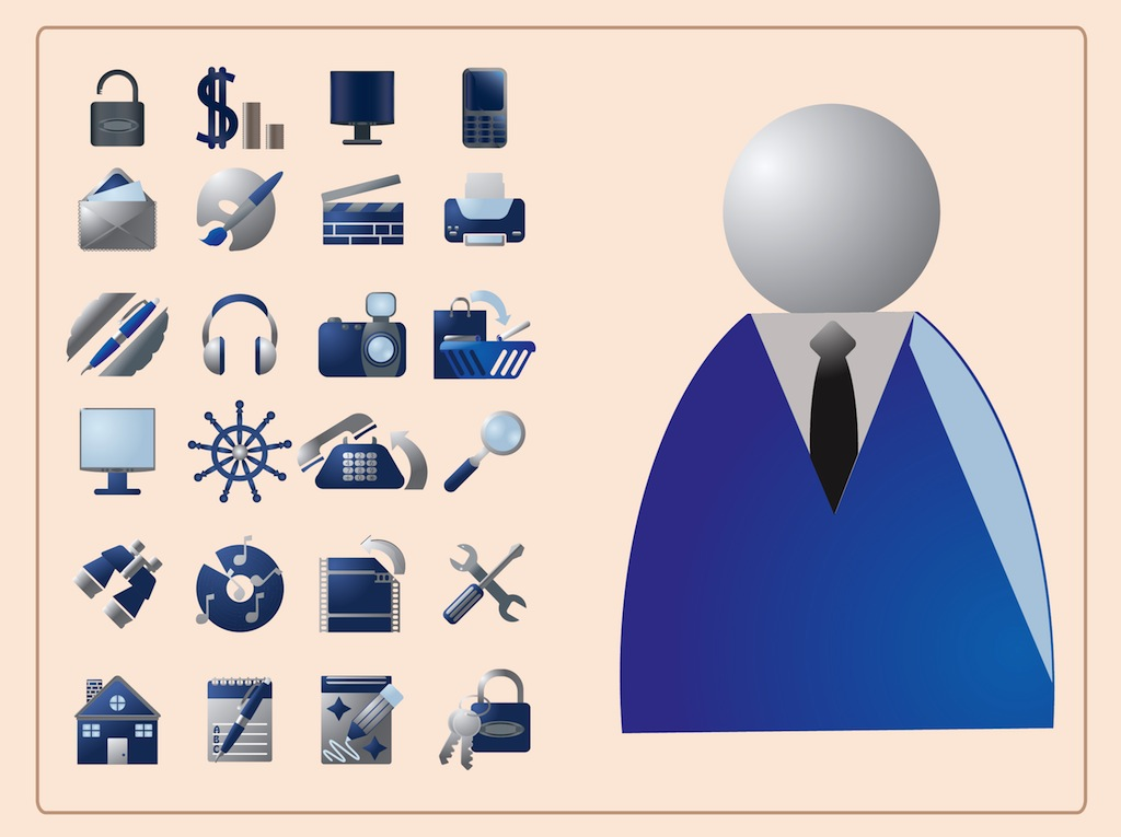 Free Vector Graphic Icons Business