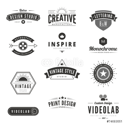 Retro Logo Vectors Ima...