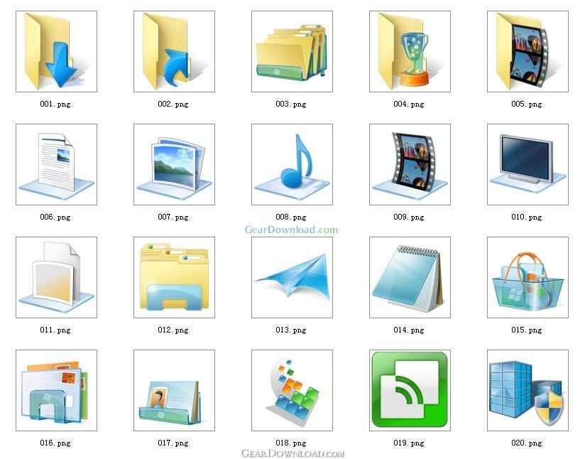 14 Windows Icon Format Images