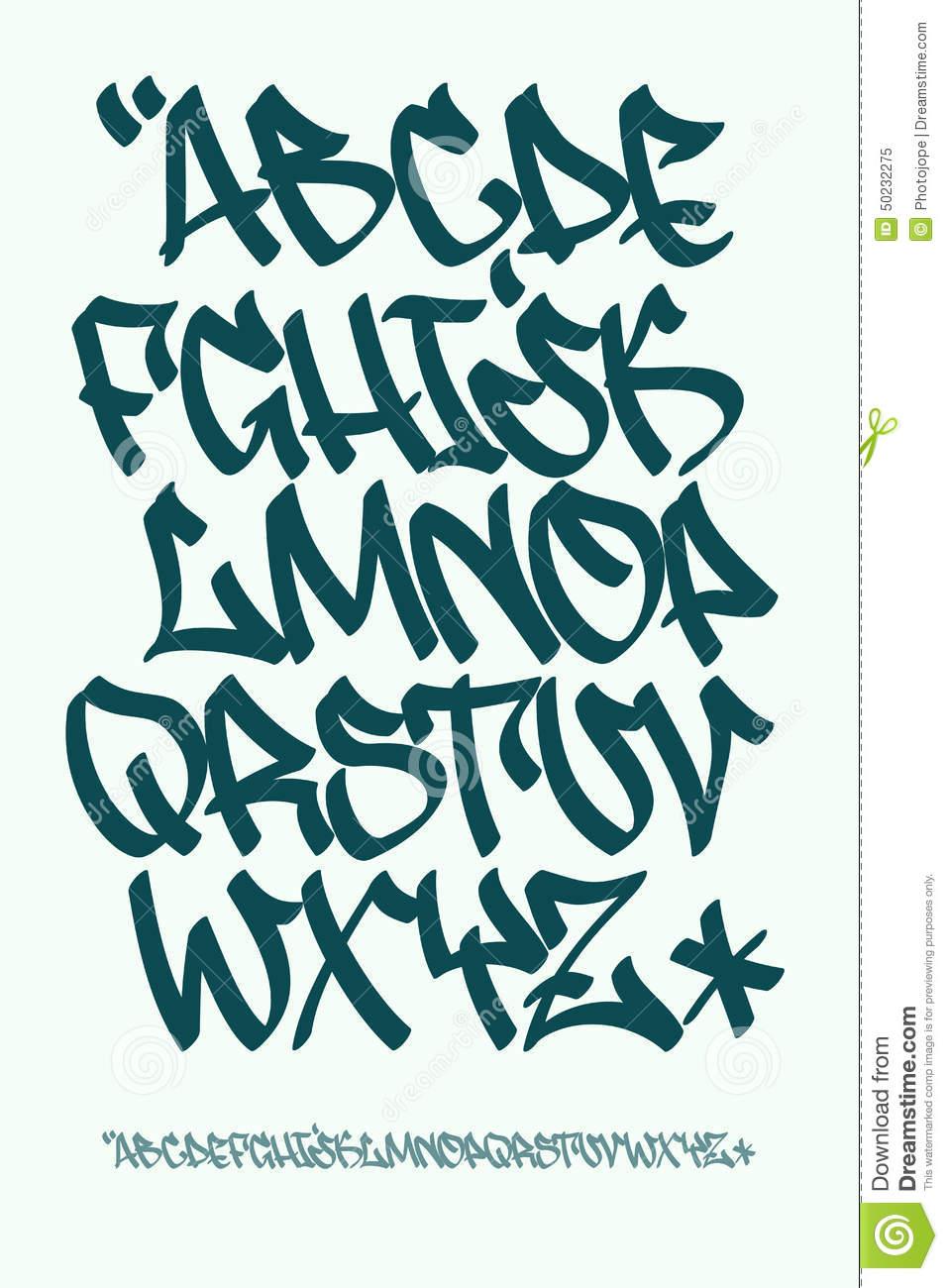 Graffiti Alphabet Capital Letters