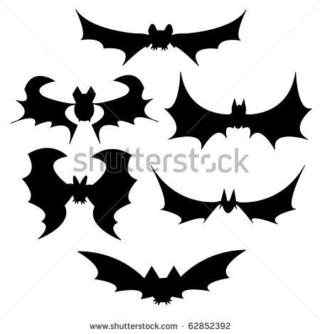 Halloween Black Bat Vector