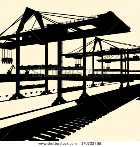Industrial Silhouette Vector