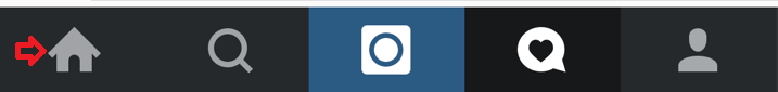 Instagram Home Icon Bar
