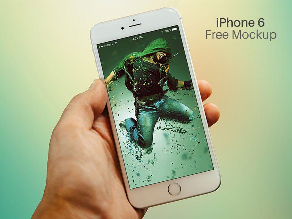 iPhone 6 Hand Mockup PSD