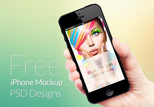 iPhone Mockup Photoshop Free