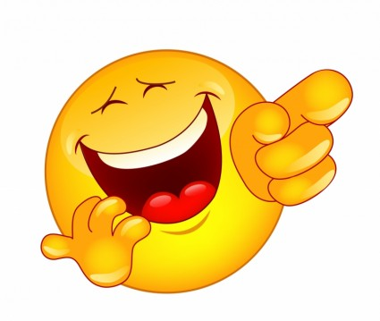 9 Funny Laughing Emoticons Images - 24.3KB