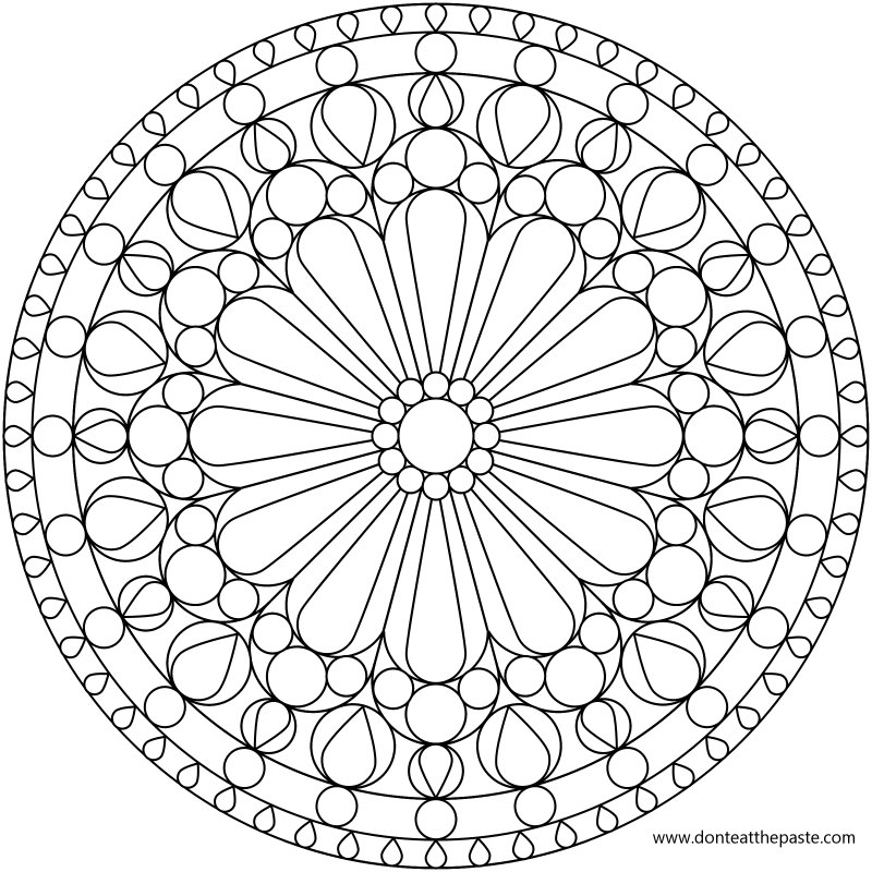 Mandala Coloring Pages Stained Glass Windows