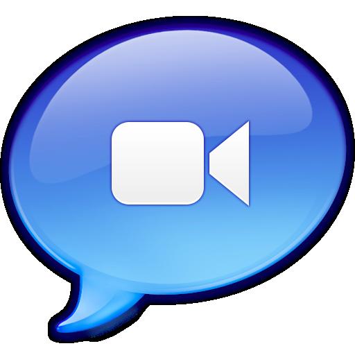 Movie Camera Icon Blue