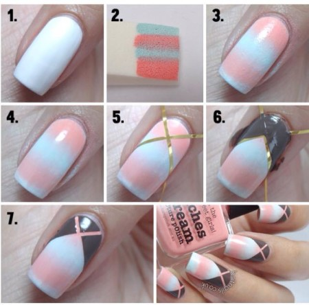 14 At Home Step By Step Nail Art Designs Without Tools Images Nail