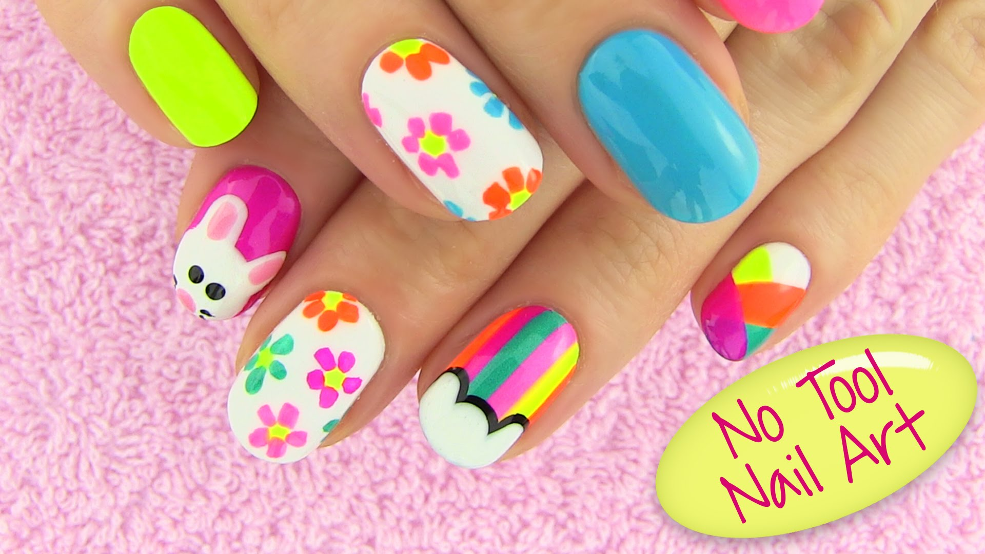 14 At Home Step By Step Nail Art Designs Without Tools Images