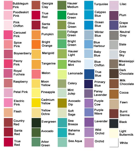 9 Color Font Paint Images