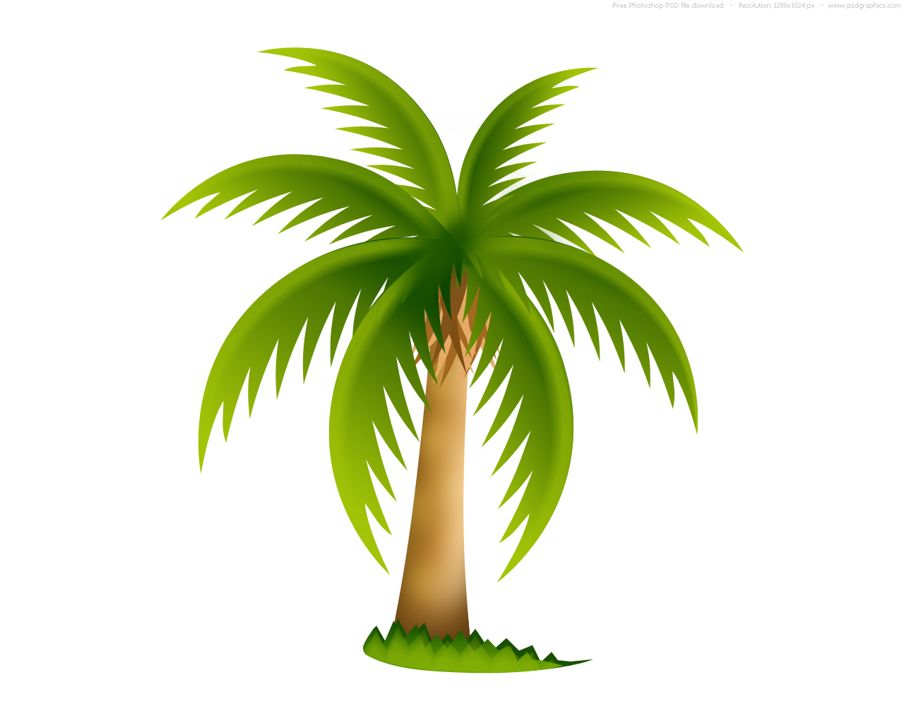 12 Green Palm Leaves Icon Images