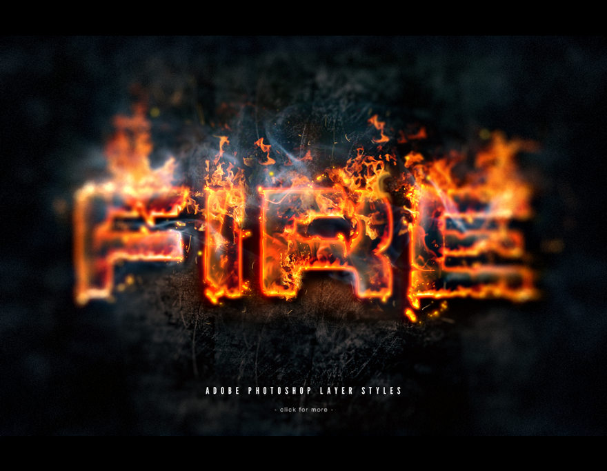 Photoshop Fire Text Styles