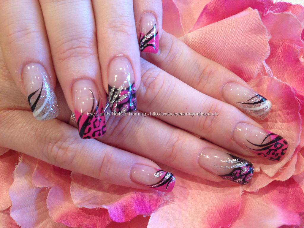 15 Pink And Silver Nail Designs Images , Pink Gel Nail