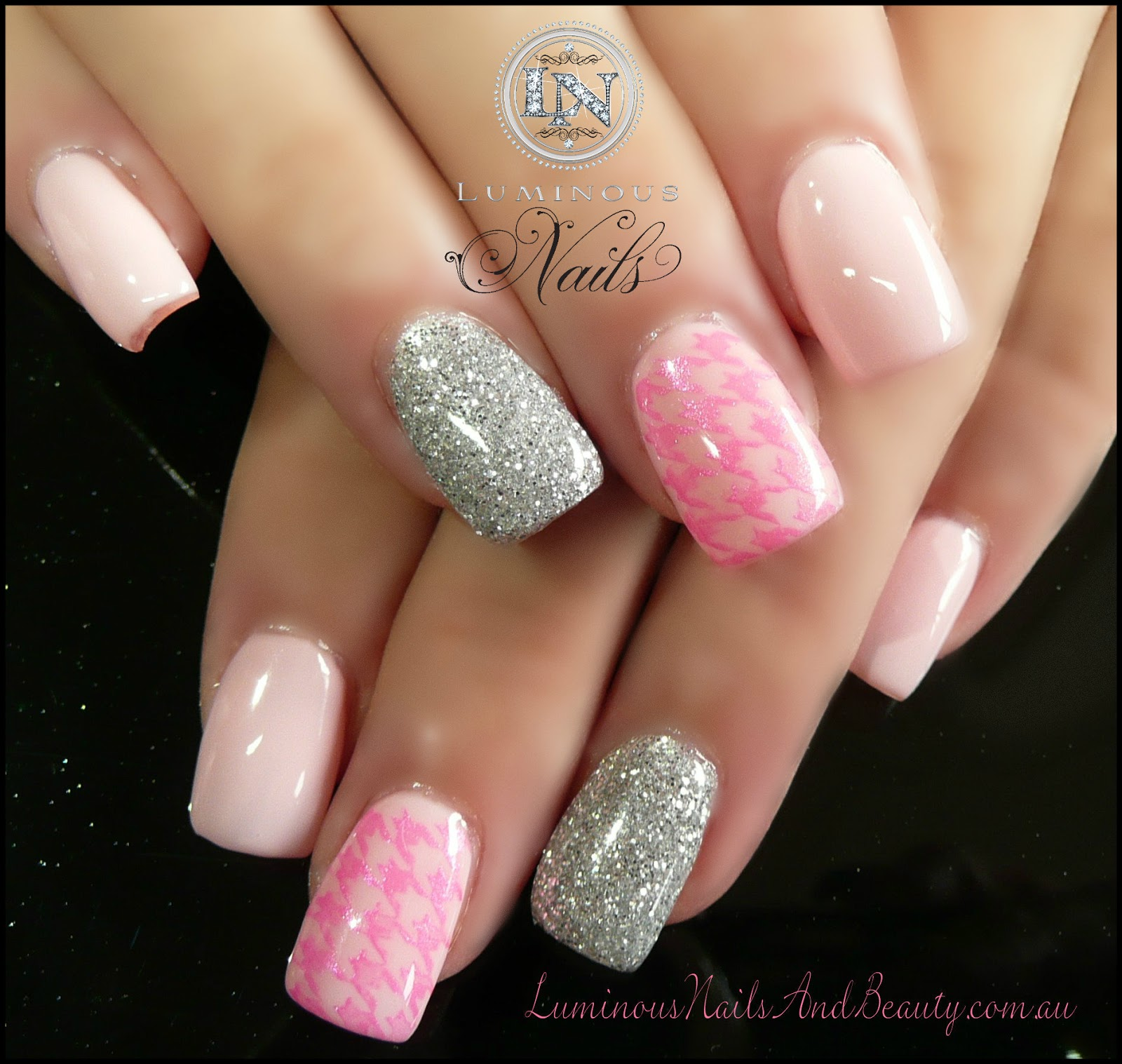 15 Pink And Silver Nail Designs Images