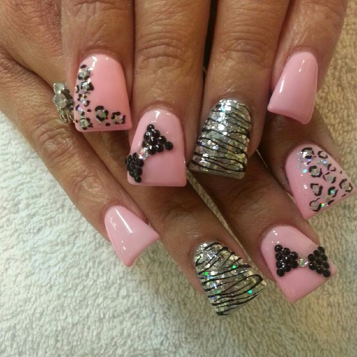 Pictures Of Pink Zebra Acrylic Nail Designs Kidskunst Info