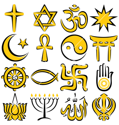 8 Religious Symbols Vector Art Images