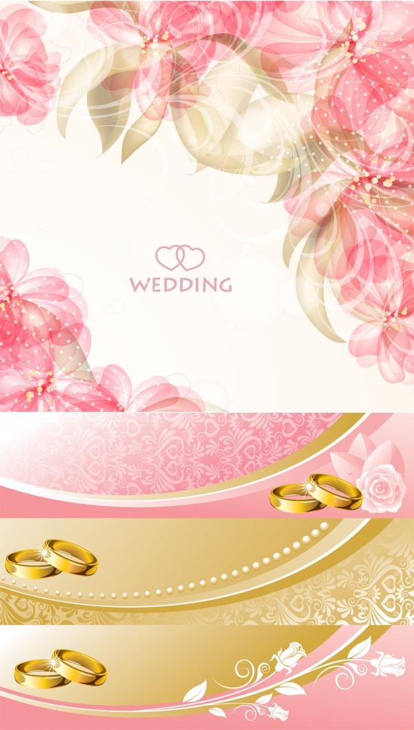 Romantic Wedding Background PSD