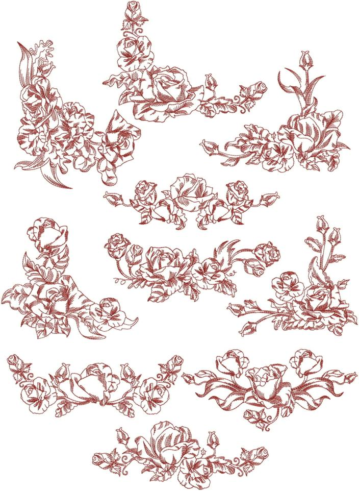 Border corner embroidery designs images machine