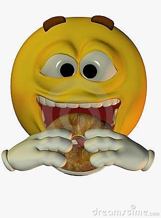 Smiley-Face Eating Donuts