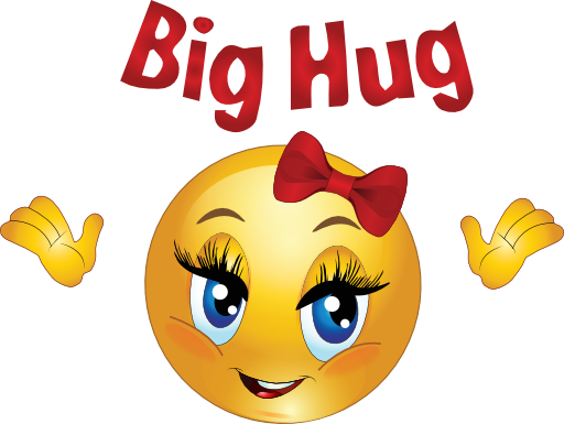 Smiley-Face Hug Clip Art