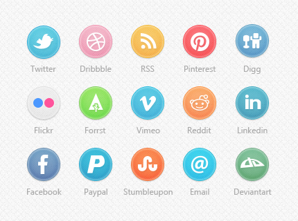 20 Social Media Circle Icons Images