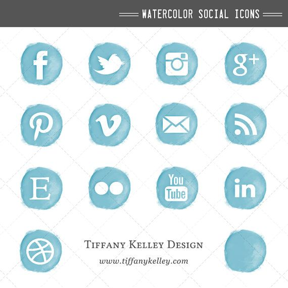 9 Social Media Icons Blue Images