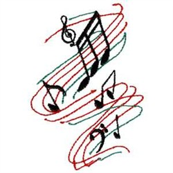 6 Music Staff Embroidery Design Images