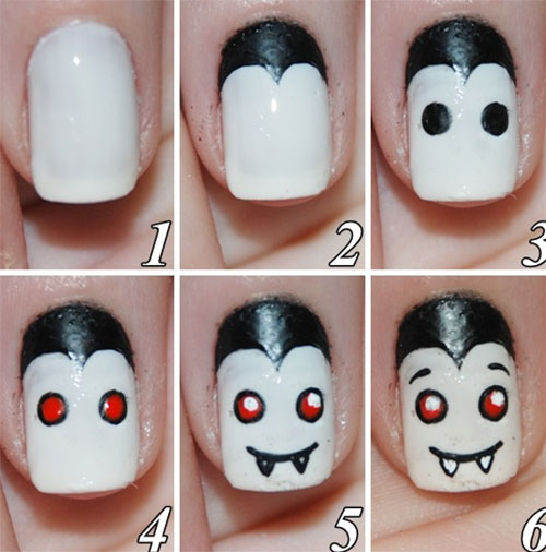 Step-By-Step-Halloween-Nail-Art-Tutorials