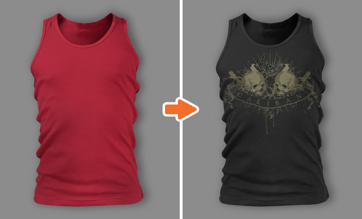 Tank Top Template PSD