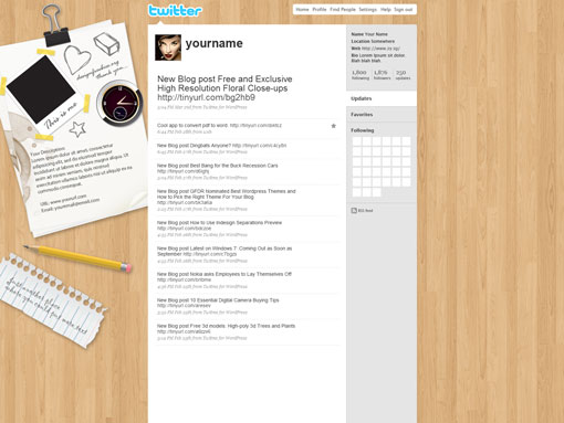 Twitter Background in Photoshop PSD Templates Free