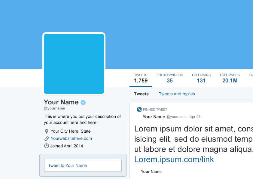 Twitter Profile Page Template