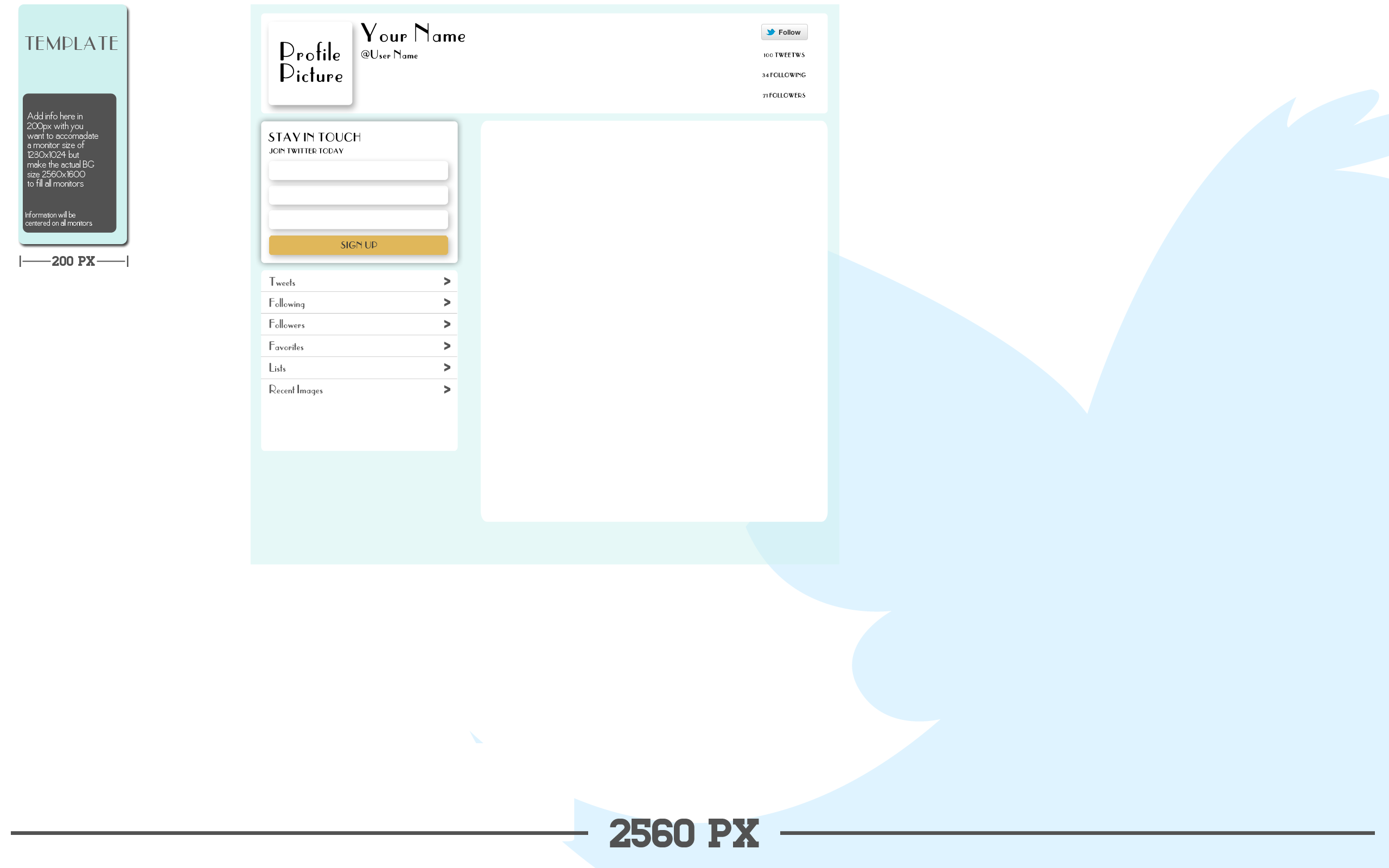 16 Twitter Profile Template Psd Images Twitter Profile Page
