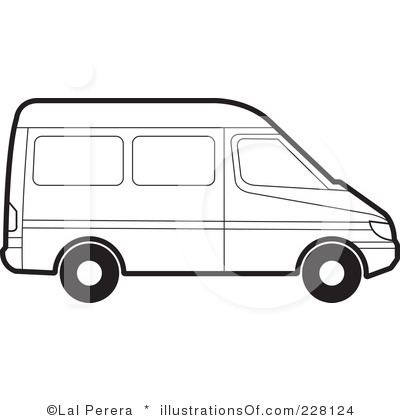 Van Clip Art Black and White