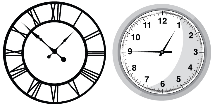 15 Free Clock Vector Image Of An Hour Images