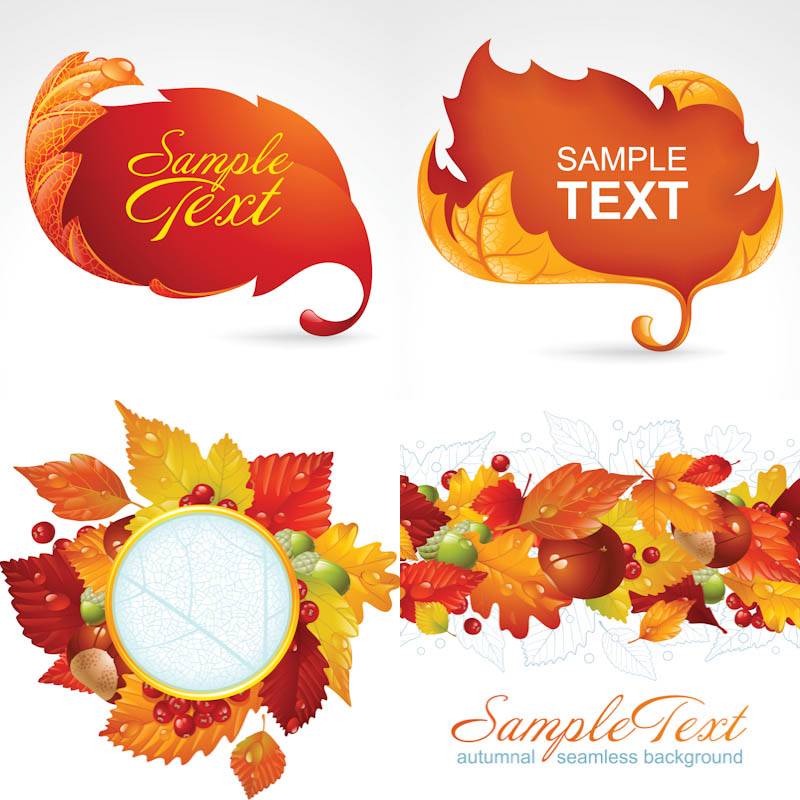 17 Fall Vector Art Images