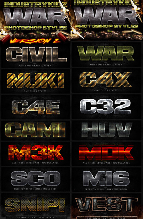 Video Game Photoshop Text Effects PSD