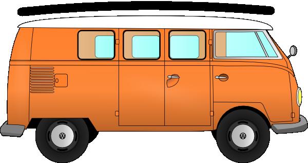 VW Camper Van Clip Art