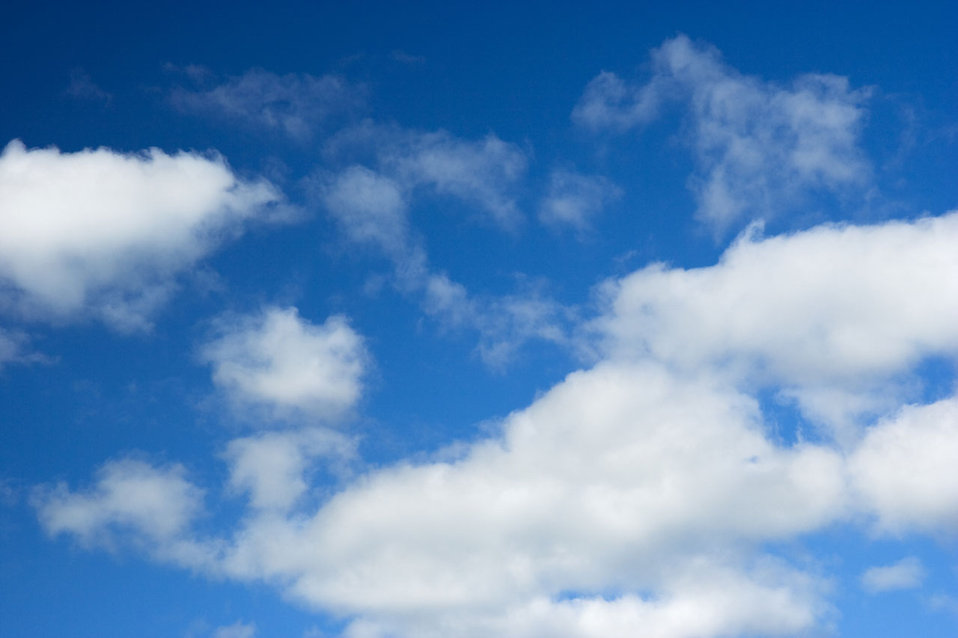 White Blue Sky with Clouds