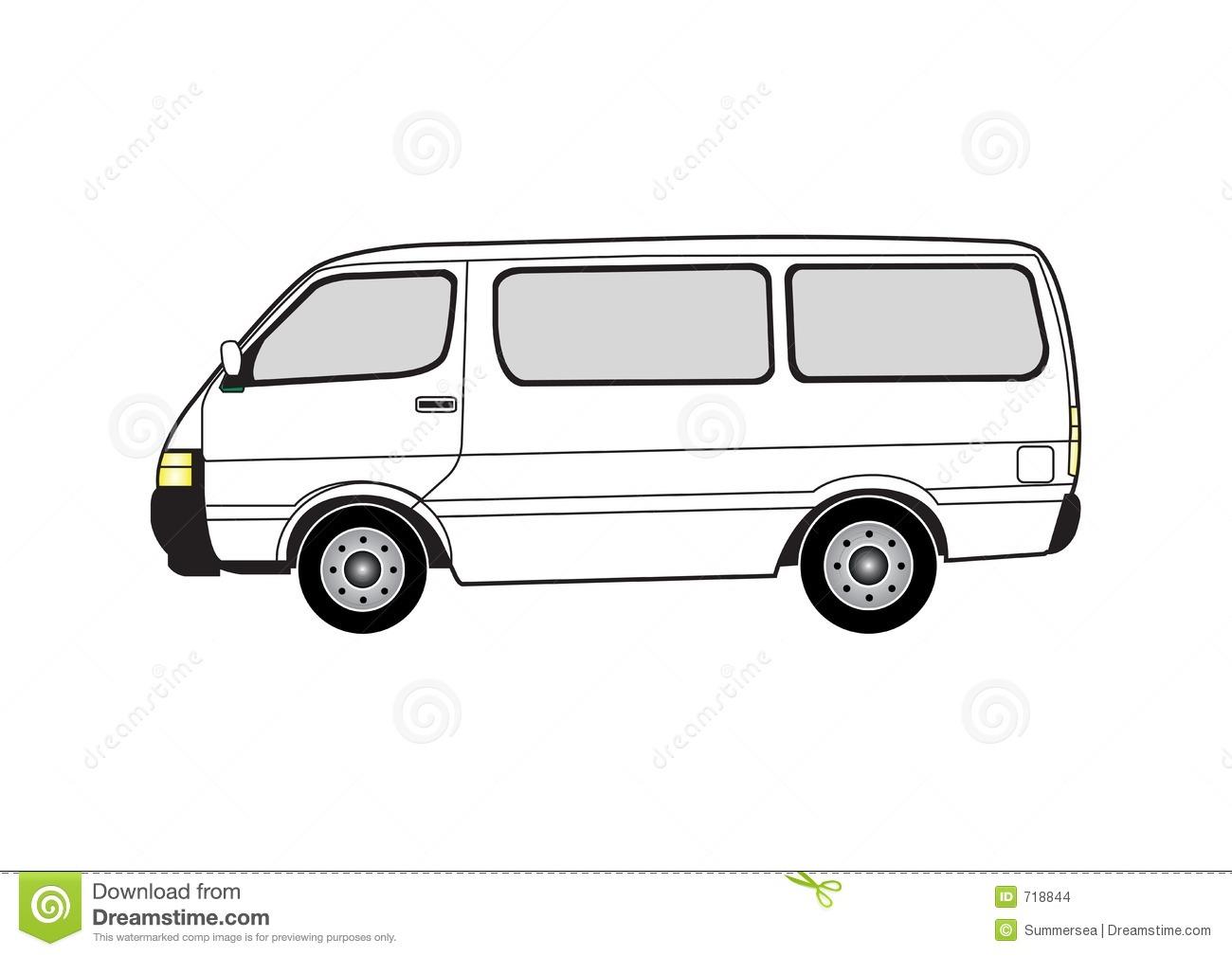 White Passenger Van Clip Art