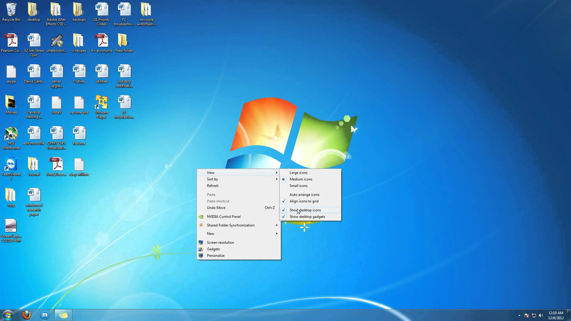Windows 7 Desktop Icons