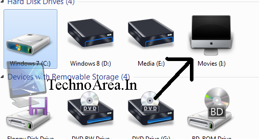 Windows 7 Drive Icons