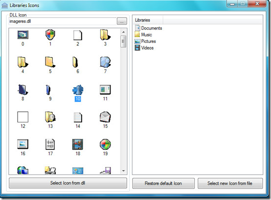 Windows 7 Library Icons