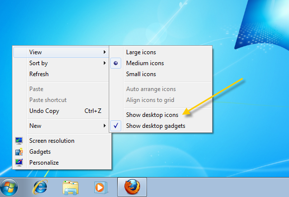 Windows XP Hide Desktop Icons