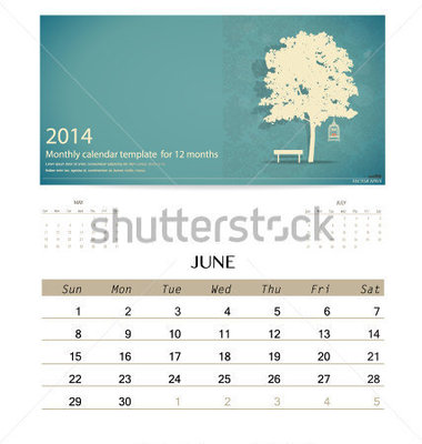 2014 Monthly Calendar Templates