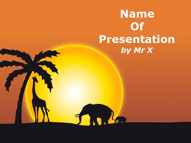 African Animal Theme PowerPoint Templates